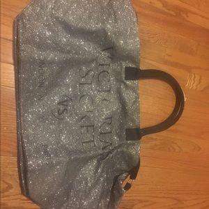 Victoria's Secret glittery duffel bag